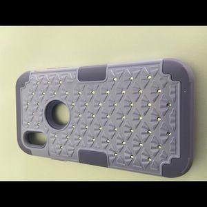 Purple Diamond case For iPhone X